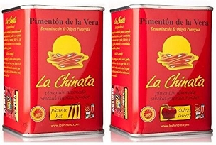 La Chinata Smoked Paprika Powder - Sweet and Hot Twin Pack (2 x 2.45. Oz)